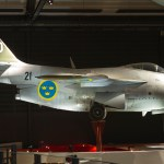 SAAB J29 Tunnan on permanent display at the Swedish Airforce Museum in Linkoping, Sweden (Media credit/Brorsson via Wikimedia Commons)