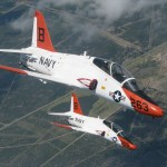 T-45A Goshawks training aircraft cruise together during a recent training flight over the skies of South Texas (US Navy photo)