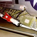 "A pair of AIM-4D Falcons in the weapons bay of the F-102 ""Delta Dagger"" fighter"