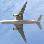 Planform view of an Air France Boeing 777-200ER in flight (Media credit/Sergey Kustov)
