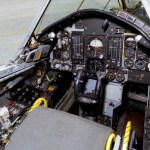 View of the cockpit and instrument panel of the QF-106 airplane used in the Eclipse project. (NASA photo)