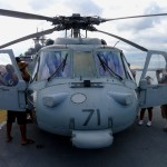 Frontal view of an MH-60 seen on the USS Wasp during Boston Fleet Week 2012 (Air Cache Photo/John M. Guilfoil)