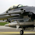"US Air Force F-16C ""Fighting Falcon"" armed with AIM-120 Advanced Medium Range Air-to-Air Missiles (AMRAAM), AIM-9 Sidewinder missiles and AGM-88 High Speed Antiradiation Missile (HARM) taxies onto the flight line at Incirlik Air Base (AB), Turkey, for a mission in support of Operation NORTHERN WATCH."