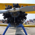 The Boeing-Stearman Model 75's 7-cylinder, 220 hp radial engine (Air Cache Photo/John M. Guilfoil)