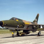 """A surviving F-105D Thunderchief at the National Museum of the United States Air Force, the """"Memphis Belle II""""."""