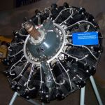"""Curtiss-Wright R-1820 Cyclone Radial Engine -- a 9-cylinder, supercharged, air-cooled radial engine. A variant of this engine powered the C-27C and the B-17 """"Flying Fortress)"""