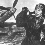 Soviet Fighter Ace Alexander Ivanovich Pokryshkin with his MiG-3