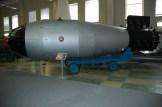 "Model of the ""Tsar Bomba"" in the Sarov atomic bomb museum."