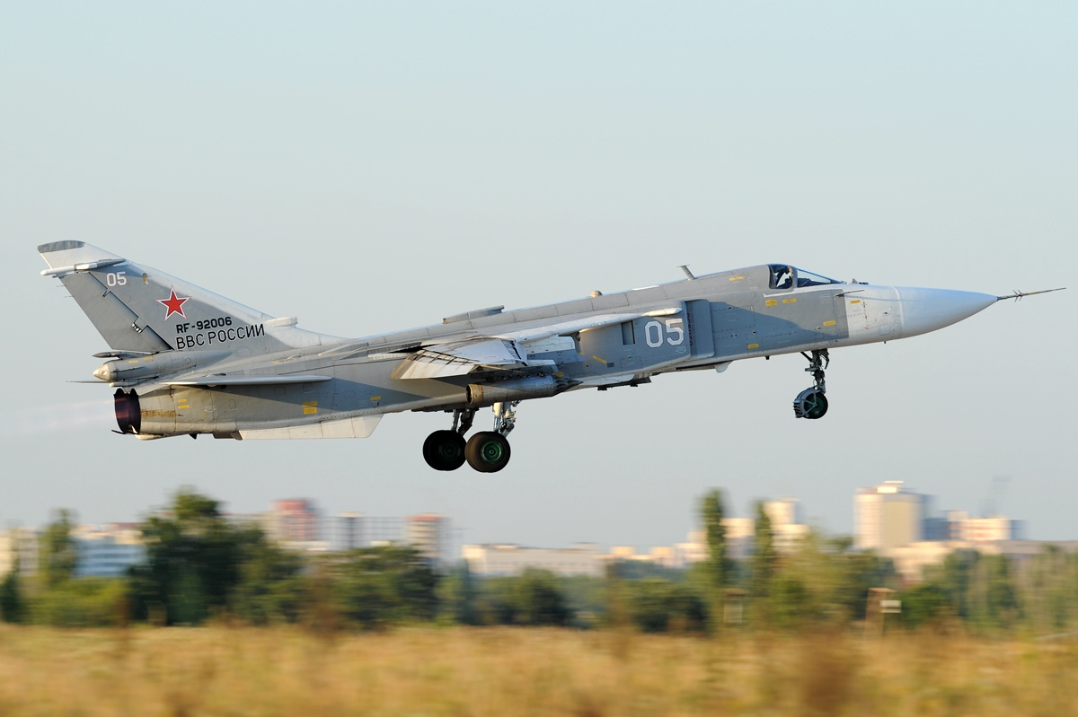A Russian Air Force Su-24M2, most likely the same variant that was shot down by Turkey on Nov. 24, 2015. (Photo credit Toshi Aoki - JP Spotters)