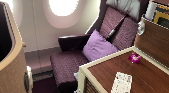 Review: Thai Airways A350-900 Royal Silk Business Class Singapore to Bangkok