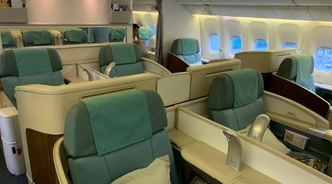 Review: Korean Air 777-300ER Kosmos Suites First Class Seoul Incheon to Bangkok
