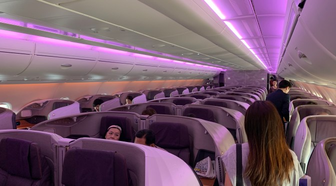 Review: Singapore Airlines A380-800 NEW Business Class Singapore to Hong Kong