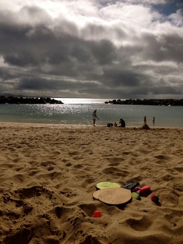 De stakk og bygde sandslott