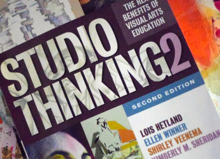 Book Reflections: Studio Thinking 2: The Real Benefits of Visual Arts Education