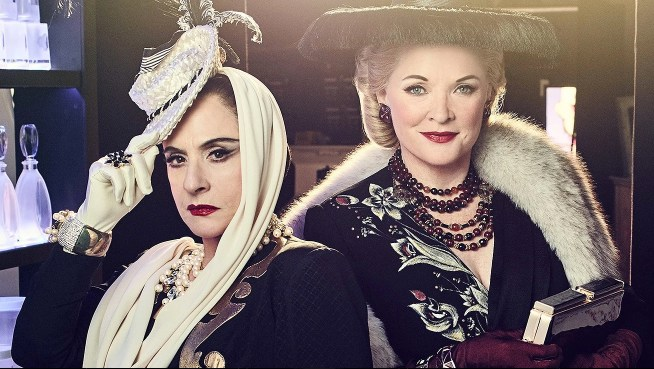 """Angelina Avallone's makeup on Patti LuPone and Christine Ebersole in"""" War Paint."""""""