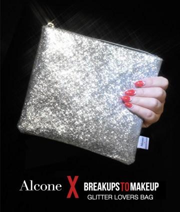 Alcone x Breakups to Makeup Glitter Lovers Bag $26