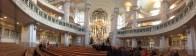 Inside of the Frauenkirche church.