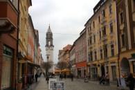 The main tourist / shopping avenue in Bautzen