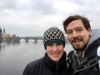 Overlooking the Charles Bridge - the most popular tourist spot in Prague