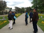 Strolling through the gardens of Mirabell Palace
