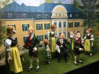 A marionette display inside Hohensalzburg Castle