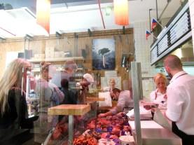 A popular deli in Prague that specializes in steaks