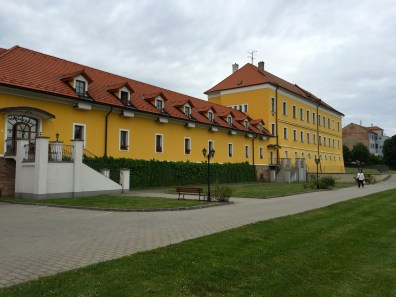 Our hotel in Brno, a converted wing of an old palace