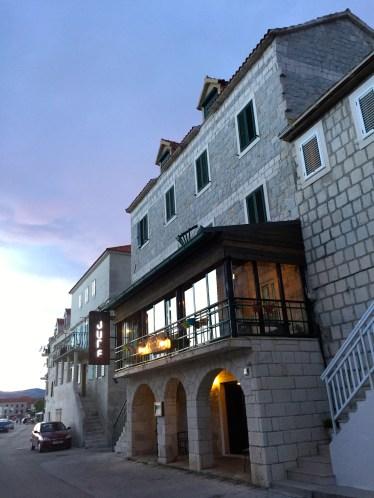 Our hotel in a small Croatian town near Split
