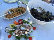 Dinner in the village of Ston, an hour north of Dubrovnik