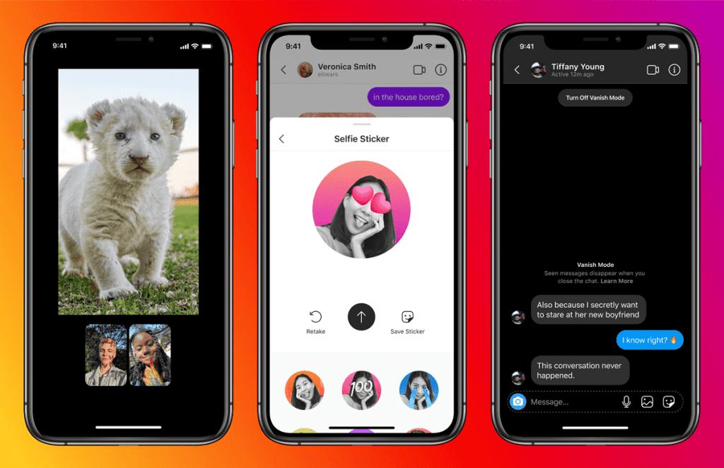 แชท Instagram แบบใหม่ เปิดให้ใช้งานแล้ว มาพร้อมธีมสี, Selfie Stickers, แชทหาเพื่อนใน Facebook และอื่นๆ