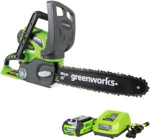greenworks 12inch 40 cordless chainsaw
