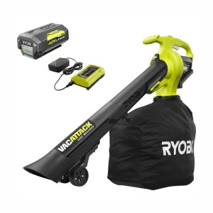 ryobi 40v leaf vacuum with battery and charger