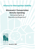 Transportation Stimulus in Minnesota: Increasing Equity or Exacerbating Disparities?