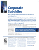 Corporate Subsidies: How Economic Development Policies Contribute to Racial Disparities