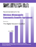 Recommendations for the Wireless Minneapolis Community Benefits Agreement