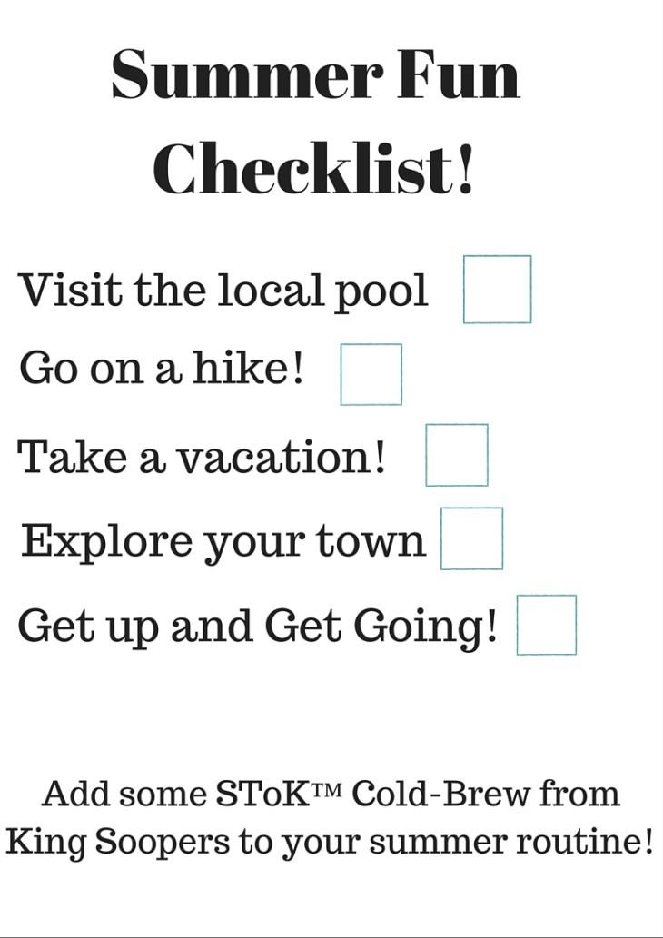 Summer Fun Checklist!