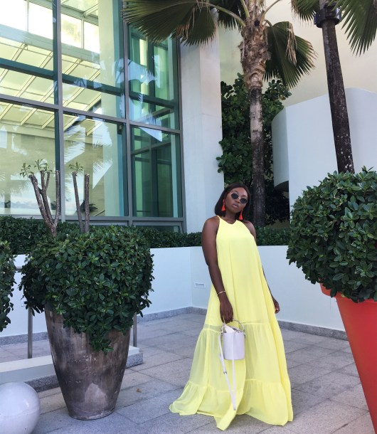 Yellow Maxi Chiffon Dress | The Alma Chroinicle
