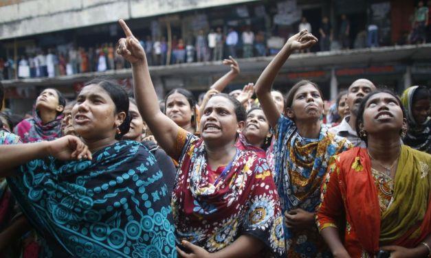 Bangladeshi workers go on strike