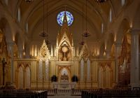 A beautiful golden high altar
