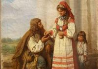 A woman giving alms