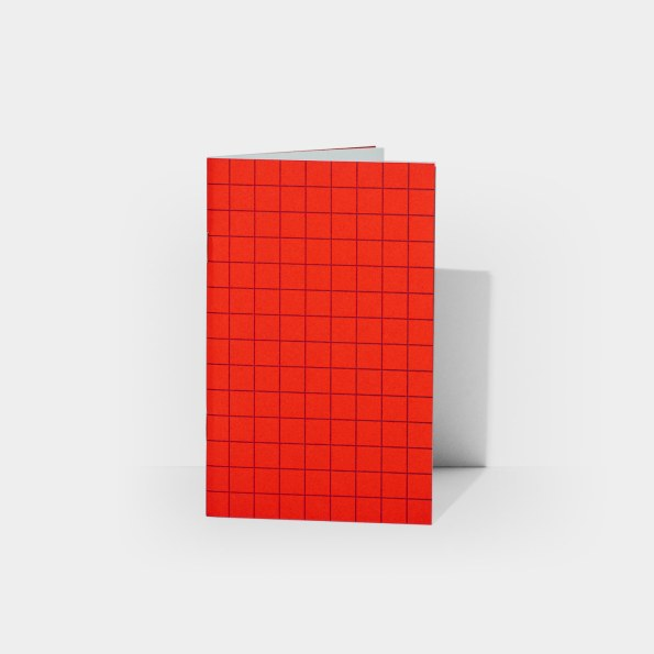 B+AP Plain Notebook (Scarlet Red)