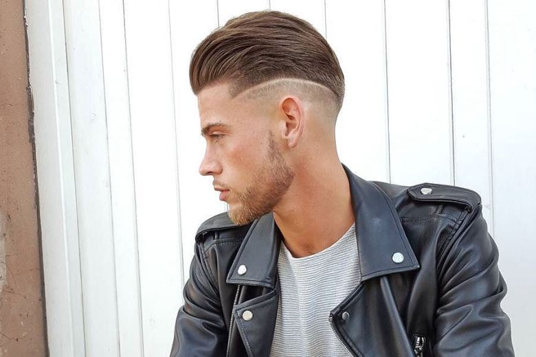 Comb Over High Brush With High Fade