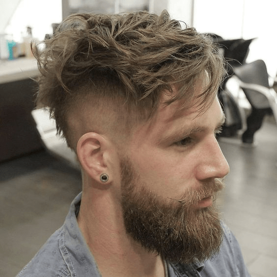 Messy Hair Cut With Perfect Fade