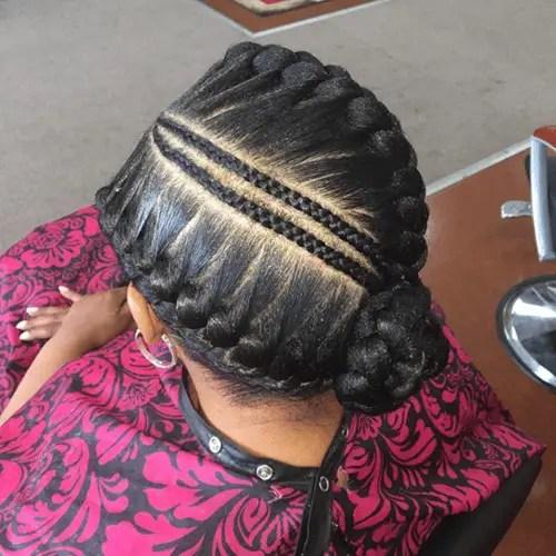 Center Styled Goddess Braids