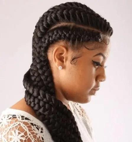 The Mohawk Style Goddess Braids