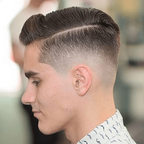 Comb Over with Taper Fade