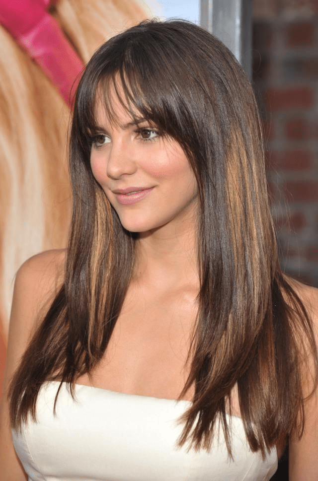Straight Hair with Side-swept Bangs