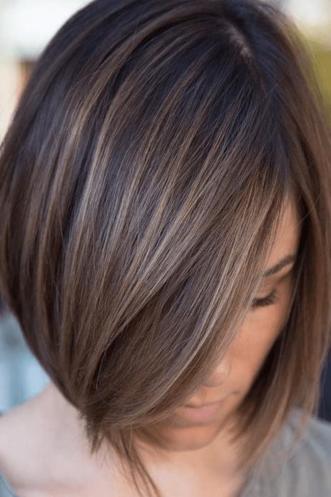 Bobbed Haircut with Highlights