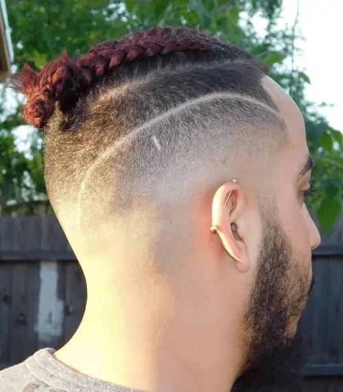 Braided low drop haircut