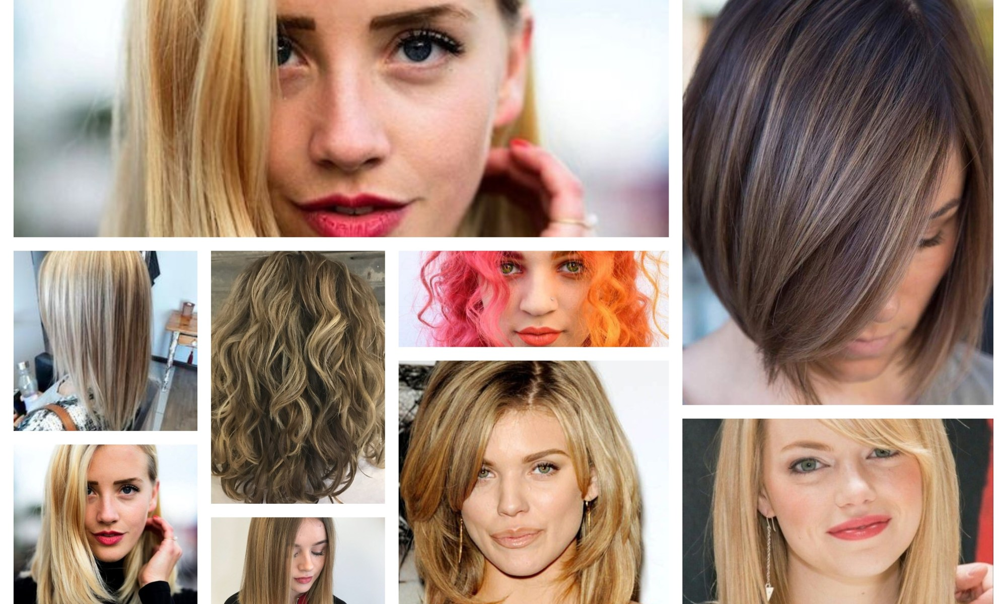 Shoulder Length Hairstyle Collage